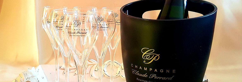 Flutes champagne Claude Perrard sceau à Champagne Coffret
