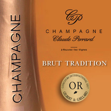 Flasche-Champagner-Claude-Perrard-Brut-Tradition