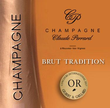 Бутылка-шампанское-клод-перрар-брют-традиция