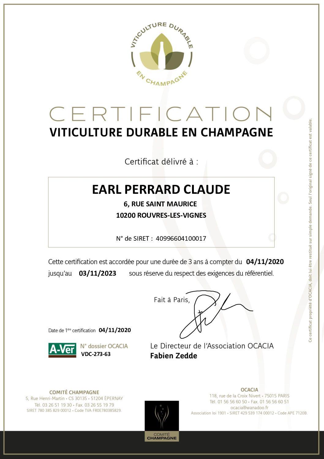 Zertifizierung für nachhaltigen Weinbau